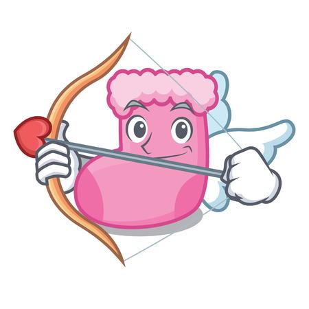 Cupid sock character cartoon style