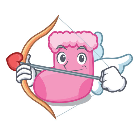 Cupid sock character cartoon style