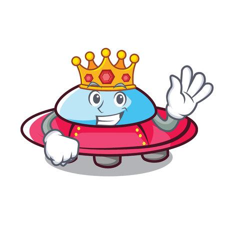 King ufo mascot cartoon style