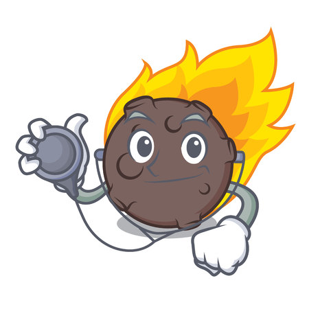 Doctor meteorite character cartoon style vector illustration