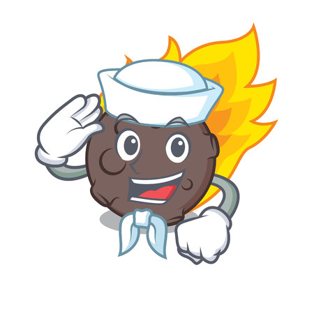 Sailor meteorite character cartoon style vector illustration Ilustrace