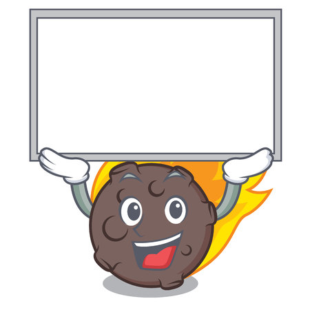 Up board meteorite character cartoon style vector illustration