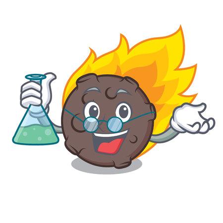 Professor meteorite character cartoon style vector illustration