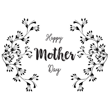 Happy mother day beatiful gretting card vector illustration