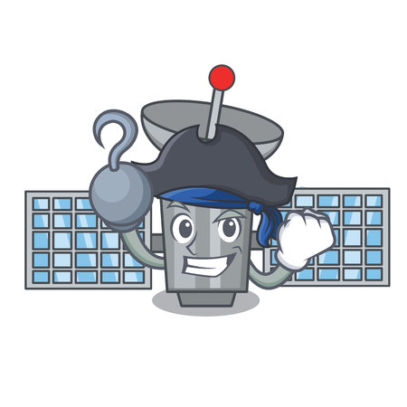 Pirate satellite character cartoon style