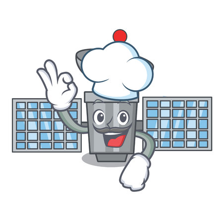 Chef satellite character cartoon style