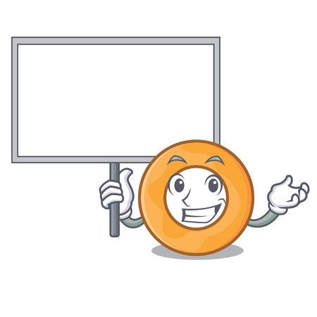 Bring board onion ring character cartoon vector illustration Illusztráció