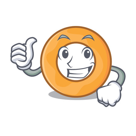 Thumbs up onion ring character cartoon vector illustration