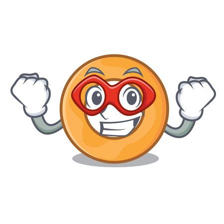 Super hero onion ring character cartoon vector illustration 向量圖像