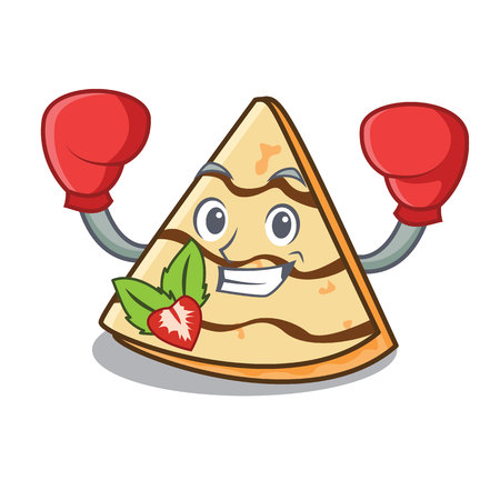 Boxing crepe character cartoon style