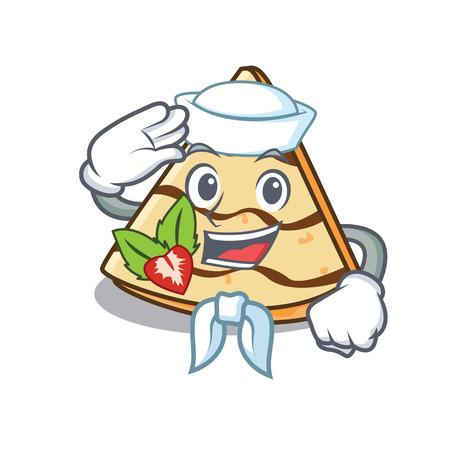 Sailor crepe character cartoon style