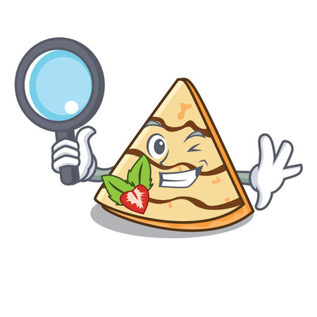 Detective crepe character cartoon style