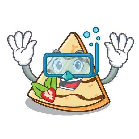 Diving crepe character cartoon style