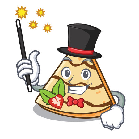 Magician crepe mascot cartoon style