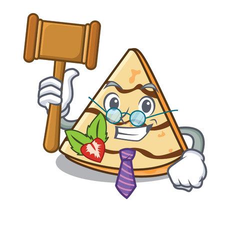Judge crepe mascot cartoon style Illustration