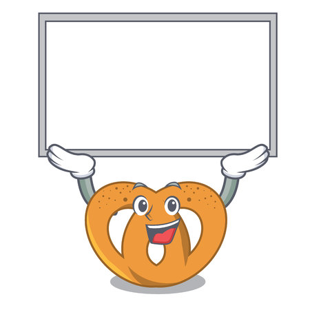 Up board pretzel character cartoon style vector illustration