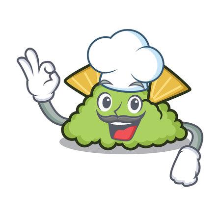 Chef guacamole character cartoon style 矢量图像