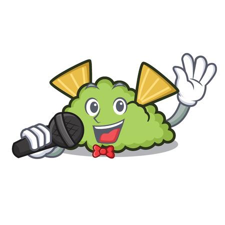 Singing guacamole mascot cartoon style Illustration