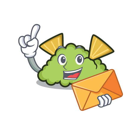 With envelope guacamole character cartoon style  イラスト・ベクター素材