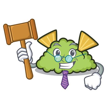 Judge guacamole mascot cartoon style