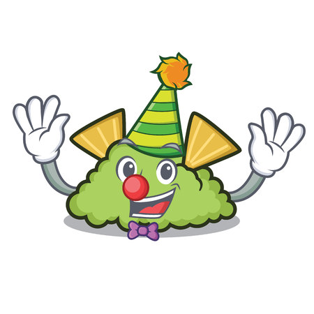 Clown guacamole mascot cartoon style Illustration
