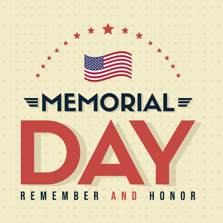 Happy memorial day poster card vector illustration
