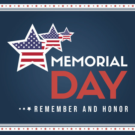 Happy memorial day collection style card