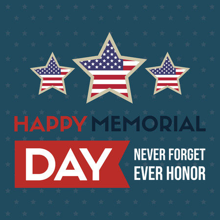Happy memorial day background star and stripes