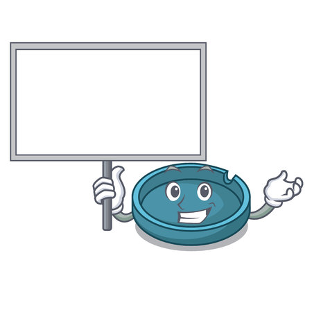 Bring board ashtray character cartoon style vector illustration