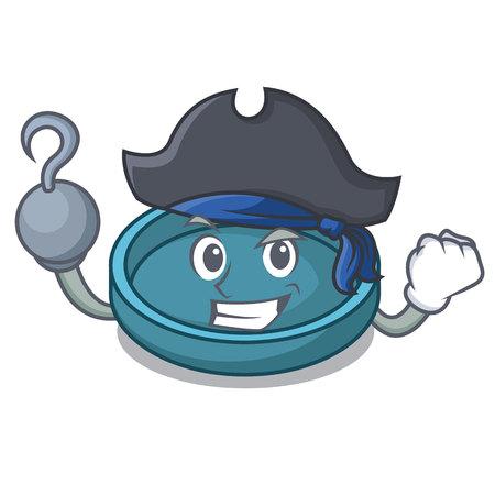 Pirate ashtray character cartoon style vector illustration
