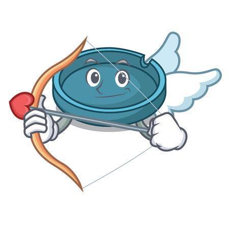 Cupid ashtray character cartoon style vector illustration