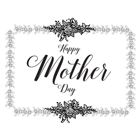 Happy mother day card flower background vector illustration Иллюстрация