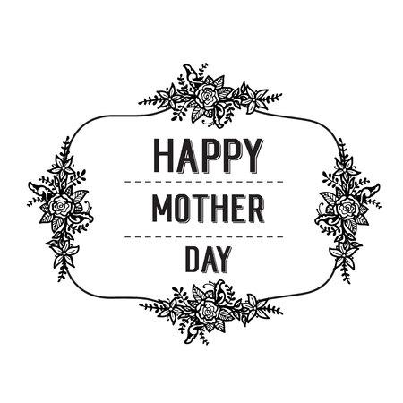 Happy mother day card flower background vector illustration Illustration