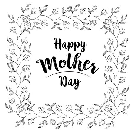 Mother day beautiful gretting card vector illustration