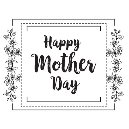 Happy Mother's day background floral design vector illustration. Иллюстрация