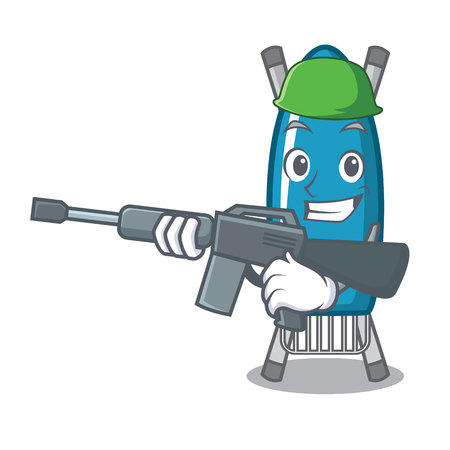 Army iron board character cartoon