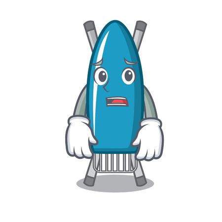 Afraid iron board mascot cartoon vector illustration Ilustração