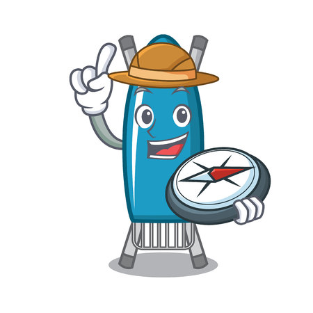 Explorer iron board mascot cartoon