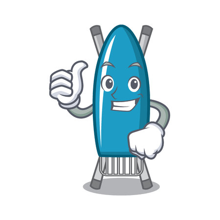 Thumbs up iron board character cartoon vector illustration.