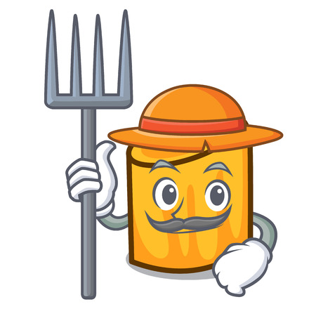 Rancher rigatoni character cartoon style