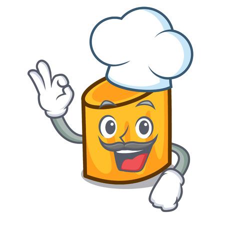 Chef rigatoni character cartoon style vector illustration