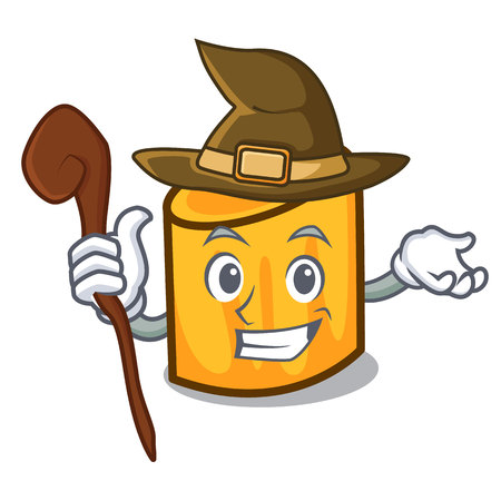 Witch rigatoni mascot cartoon style vector illustration