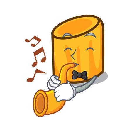 With trumpet rigatoni mascot cartoon style vector illustration