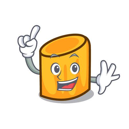 Finger rigatoni mascot cartoon style vector illustration