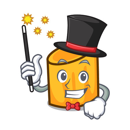 Magician rigatoni mascot cartoon style vector illustration
