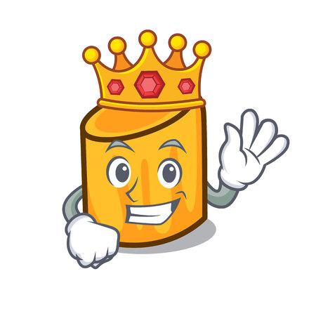 King rigatoni mascot cartoon style vector illustration Ilustração