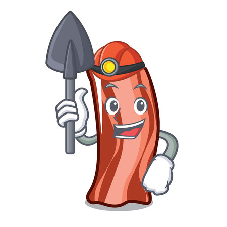 Miner ribs mascot cartoon style vector illustration
