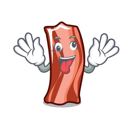 Crazy ribs mascot cartoon style vector illustration