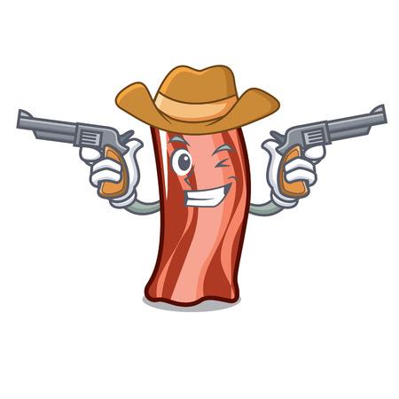 Cowboy ribs character cartoon style vector illustration