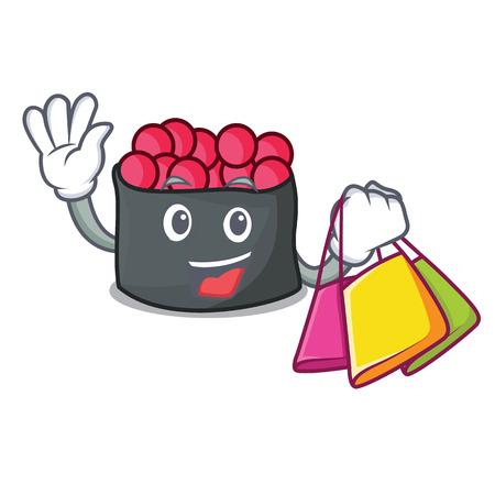 Shopping character cartoon style Illustration
